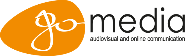 GO-media audiovisuele communicatie – eventvideo, promo film, bedrijfsfilm, videoproductie, live projectie, streamen logo